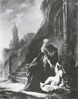 Jacob de Wet Peter heals a lame beggar at the Beautiful Gate of the temple