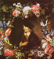 Jan Lievens Portrait of a boy with flowers
