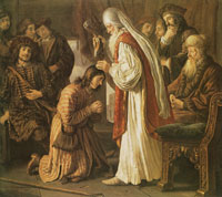 Jan Victors Samuel annointing David
