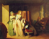 Louis-Léopold Boilly - The Visit Returned