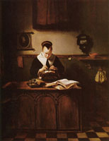 Nicolaes Maes The lace maker