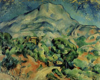 Paul Cézanne Montagne Sainte-Victoire above the Route du Tholonet
