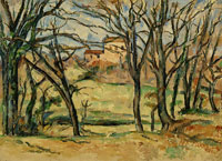 Paul Cézanne Trees and Houses near the Jas de Bouffan