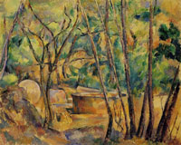 Paul Cézanne Well: Millstone and Cistern under Trees