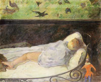 Paul Gauguin Child Dreaming