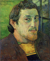 Paul Gauguin Self-Portrait Dedicated to Charles Laval