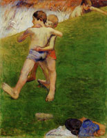 Paul Gauguin Young Wrestlers - Brittany