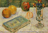 Paul Signac Still Life with Oranges and a Book