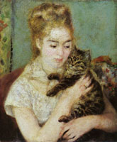 Pierre-Auguste Renoir Woman with a cat