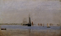 Thomas Eakins On the Delaware (Becalmed)