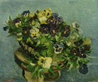 Vincent van Gogh Basket of Pansies