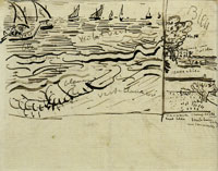 Vincent van Gogh Boats at Sea, Saintes-Maries-de-la-Mer; Two Landscapes