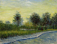 Vincent van Gogh Lane in a Public Garden at Asnières