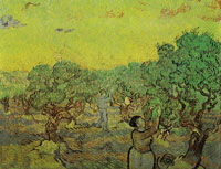 Vincent van Gogh Olive Grove with Picking Figures
