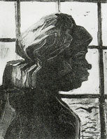 Vincent van Gogh Peasant woman, seen against the window, head