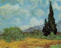 Vincent van Gogh Wheat Field with Cypresses