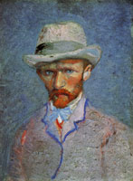 Vincent van Gogh Self-portrait with grey hat
