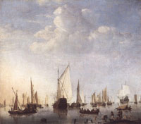 Willem van de Velde the Youger Ships in the Roads