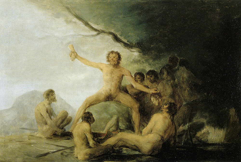 Francisco Goya - Cannibals Contemplating Human Remains