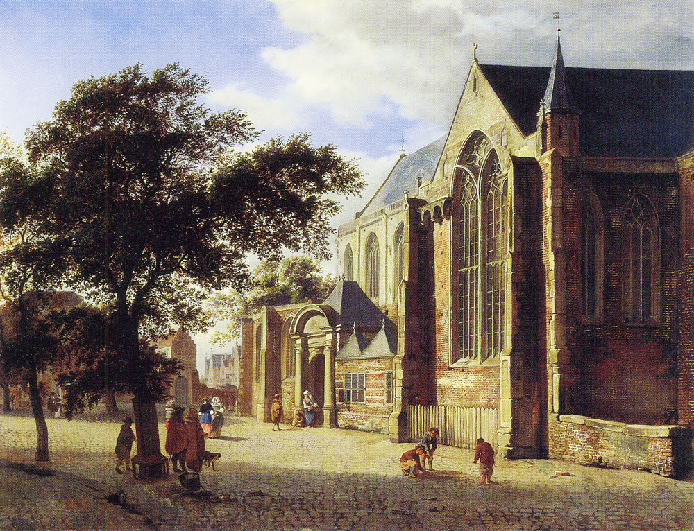 Jan van der Heyden - Exterior of a Church