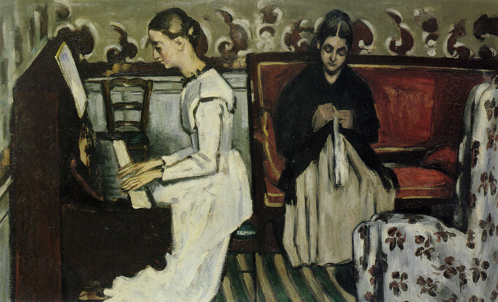 Paul Cézanne - Young girl at the piano: Overture to