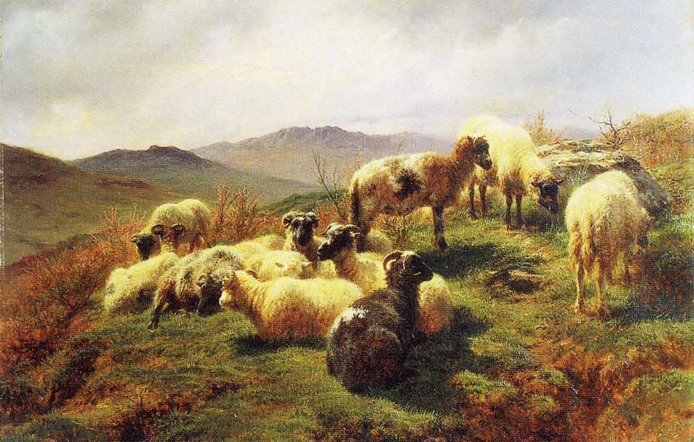 Rosa Bonheur - Sheep in the Highlands