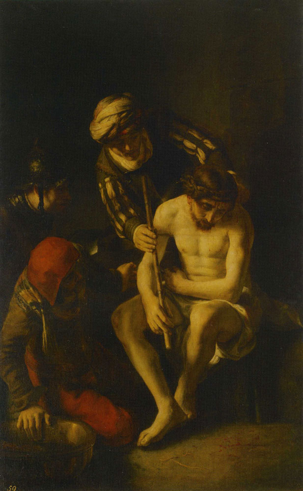 School of Rembrandt - The Mocking of Christ