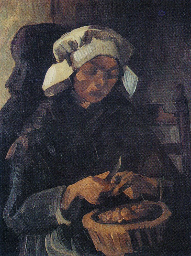 Vincent van Gogh - Peasant woman, peeling potatoes