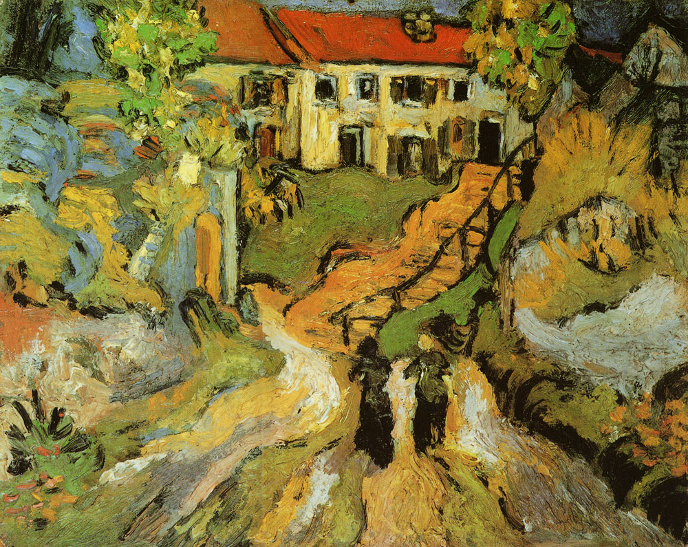 Vincent van Gogh - Street and Steps in Auvers