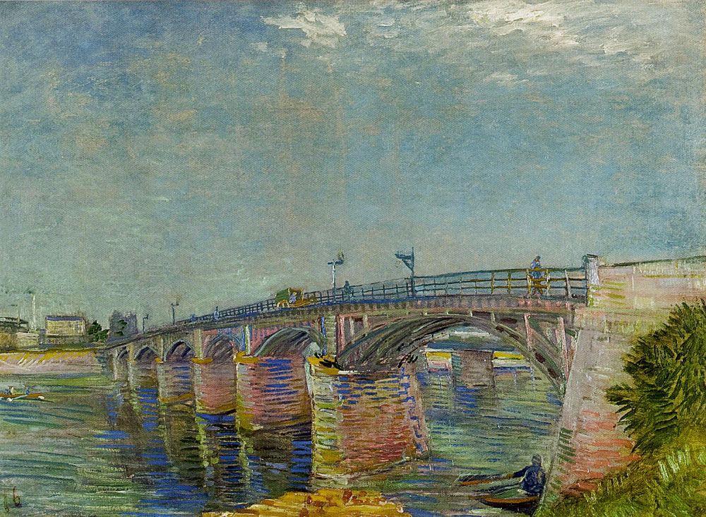 Vincent van Gogh - The Seine Bridge at Asnières