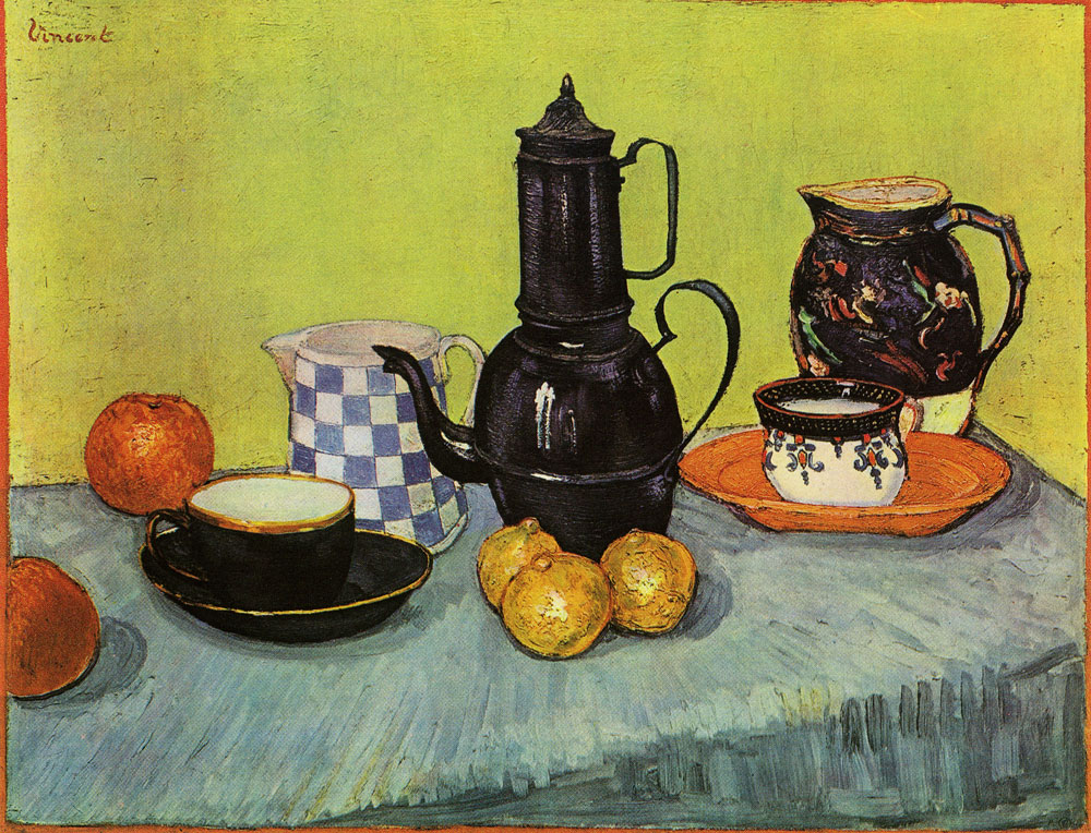 Vincent van Gogh - Coffeepot, Earthenware and Fruit