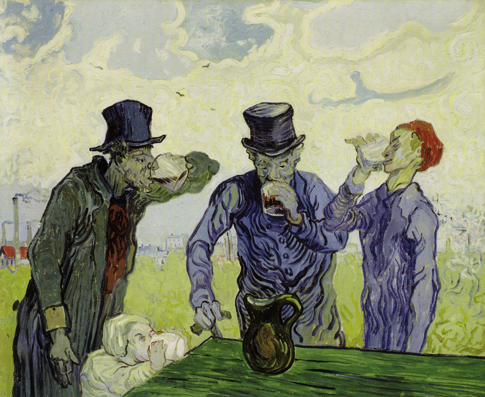 Vincent van Gogh - The Drinkers (after Daumier)