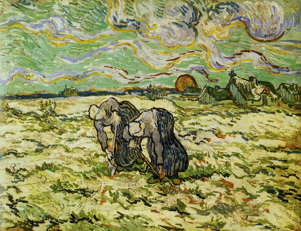 Vincent van Gogh - Two Peasant Woman Digging