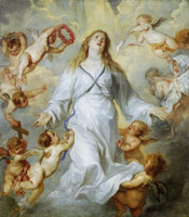 Anthony van Dyck The assumption of the Virgin
