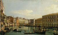 Canaletto The Grand Canal, Venice, Looking South from the Ca' da Mosto to the Rialto Bridge