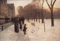 Childe Hassam Boston Common at Twilight