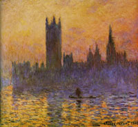 Claude Monet The Houses of Parliament, sunset