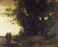 Jean-Baptiste Camille Corot - Macbeth and the Witches
