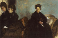 Edgar Degas Duchessa di Montejasi with her Daughters, Elena and Camilla