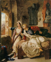 Eugene Delacroix Rebecca and the Wounded Ivanhoe