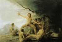 Francisco Goya Cannibals Contemplating Human Remains
