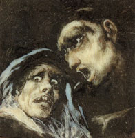 Francisco Goya - Monk Talking to an Old Woman