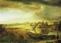 Attributed to Govert Flinck Landscape with a Coach