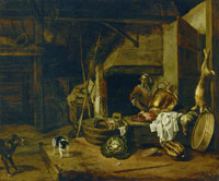 Jan Baptist Weenix In the Kitchen