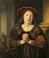 Jan Victors Hannah, Mother of Samuel, Praying in the Temple