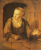 Jan Victors A young woman at a window