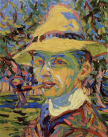 Ernst Ludwig Kirchner Self-portrait with a pipe