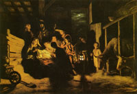 Nicolaes Maes The adoration of the shepherds