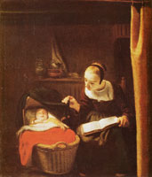 Nicolaes Maes The young mother