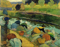 Paul Gauguin Washerwomen at the Roubine du Roi Canal